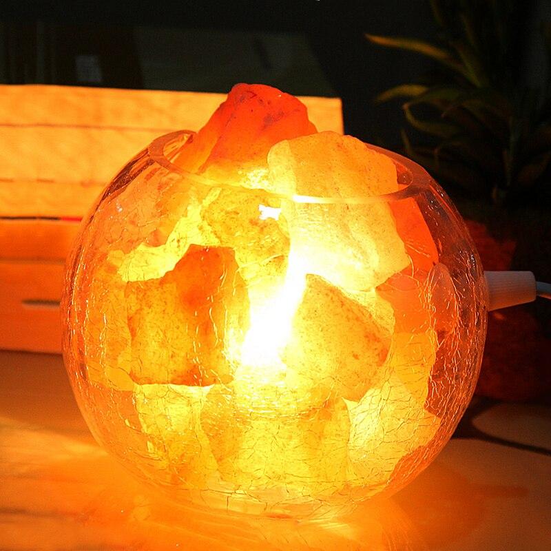 Здесь продается  Glass cylinder Crystal salt lamp Himalaya European style decorative small table lamp creative bedroom warm wedding bedside lamp  Свет и освещение