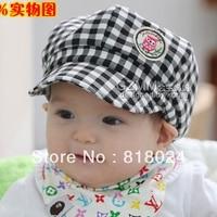 FREE SHIPPING 1piece Children S Hat Wholesale The Owl Grid Tartan Plaid Baby Spring Autumn Baseball