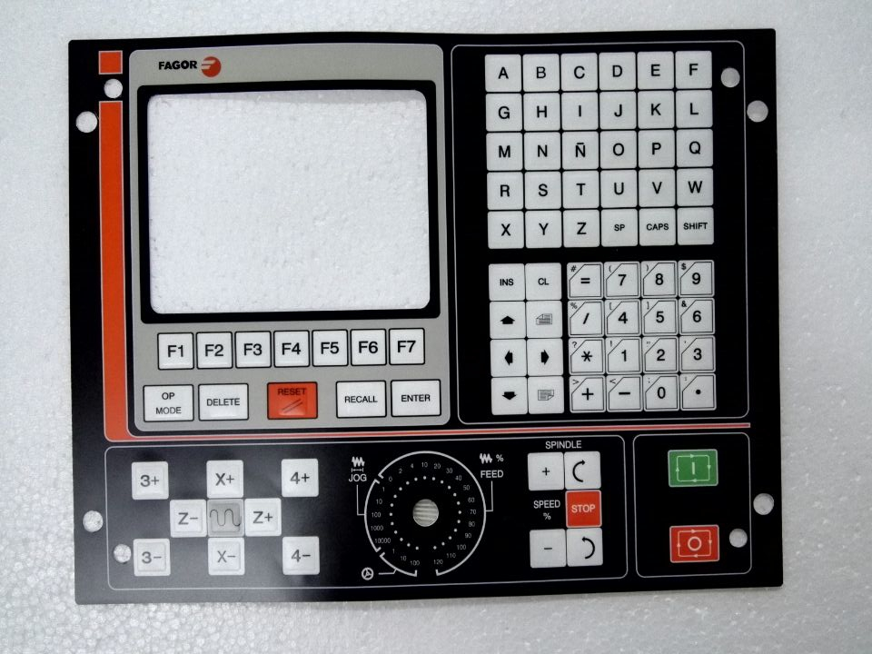 FAGOR CNC 8025M 8025T Membrane Keypad, Have in stock 8055i cnc 8055i a m fagor key button membrane for cnc system fast shipping