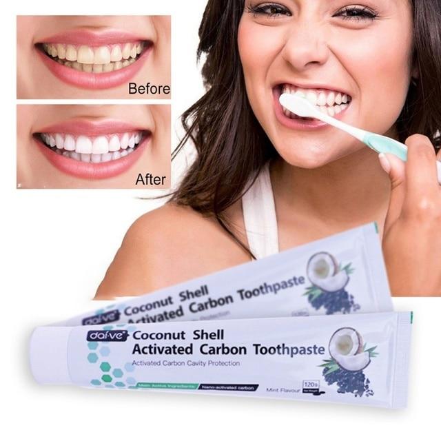 De cáscara de coco carbón activado pastas de dientes de carbón-propósito blanqueamiento dientes, la pasta de dientes higiene Oral pasta de dientes