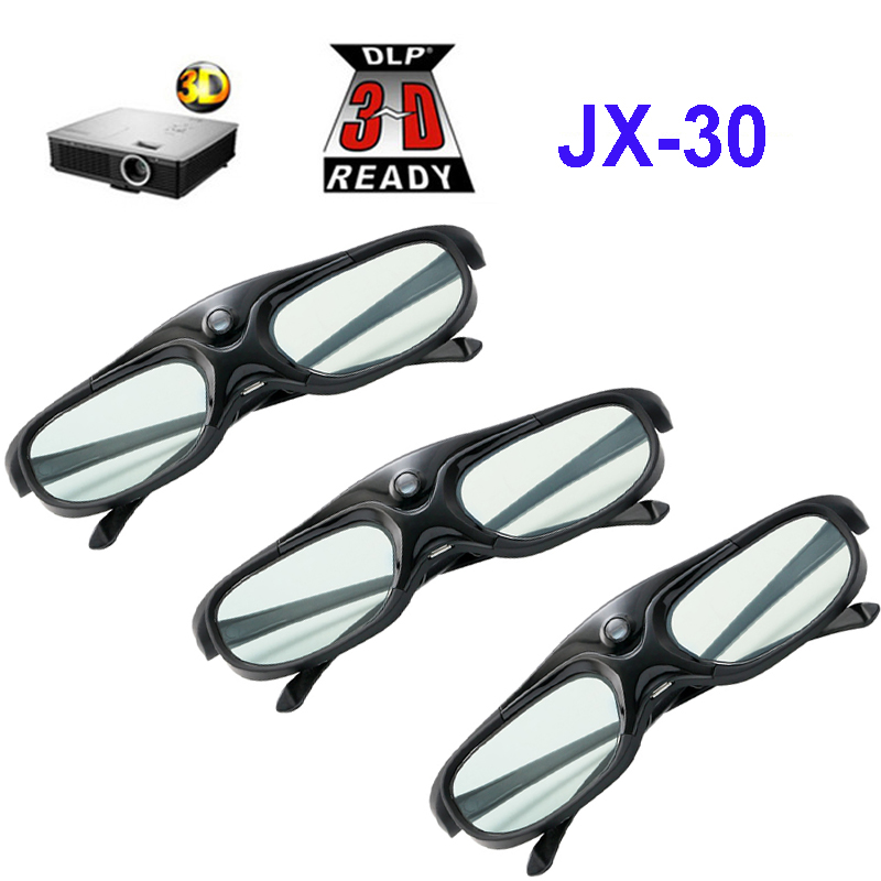 Rechargeable Active Shutter 96 144HZ 3D Glasses For Xgimi BenQ Acer Optoma HD144X UHD51 GT760 JMGO J6S V8 & All 3D DLP Projector-in 3D Glasses/ Virtual Reality Glasses from Consumer Electronics    1