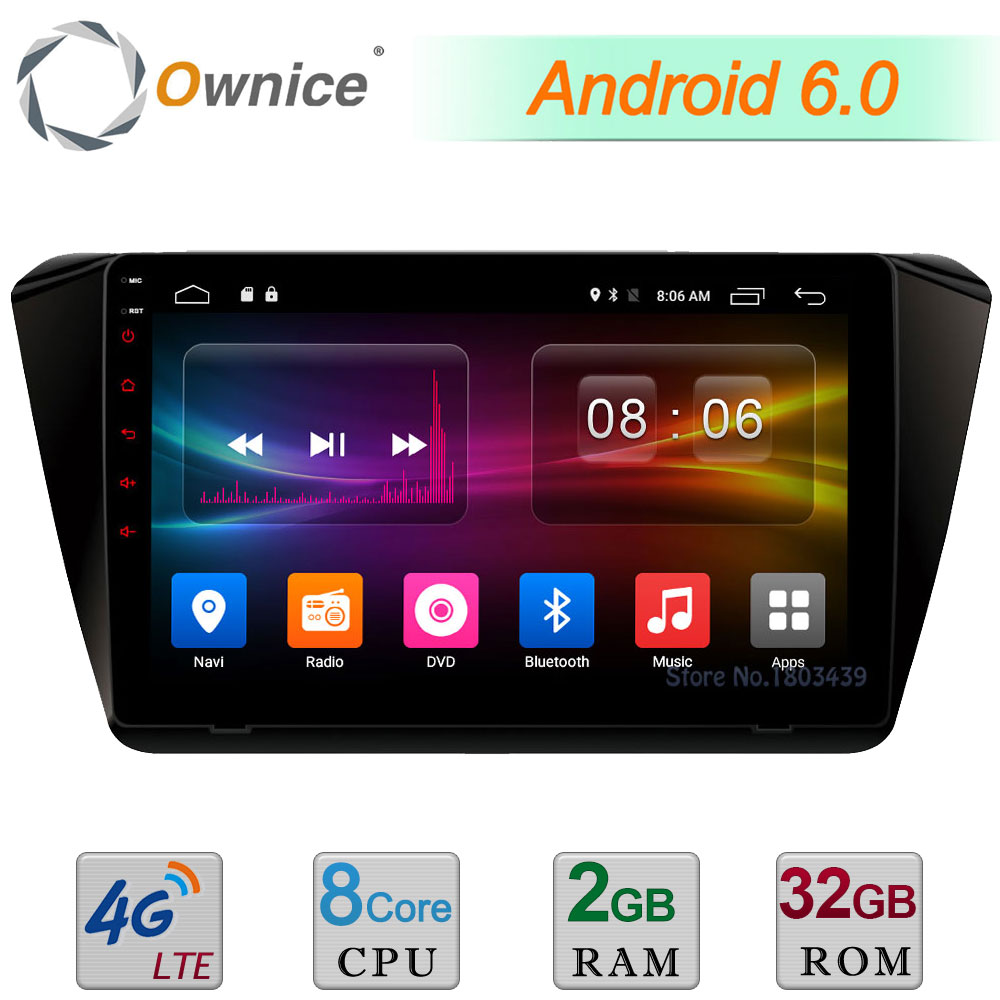 C500+ 10.1 Android 6.0 Octa Core 2GB RAM 32GB ROM 4G LTE WIFI DAB+ DVR Car DVD Multimedia Player Radio For Skoda Superb 2016