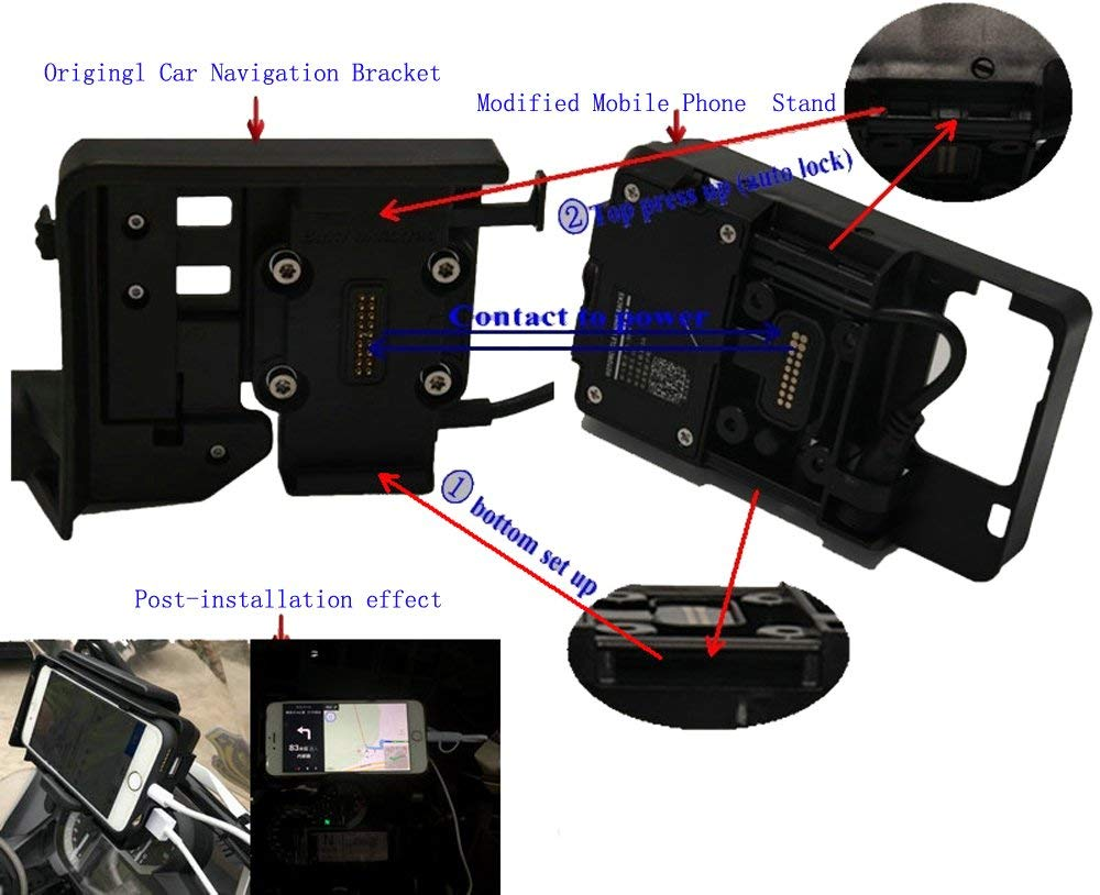 mobile phone Navigation bracket USB phone charging for BMW R1200GS LC adventure 13 17 Imported IC