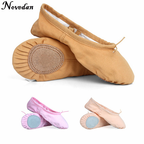 (taille: 37) enfant adulte toile ballet des chaussures de danse pantoufles (noir) OOGvnUyK7J