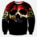 2015 Harajuku style new fashion men/women 3D sweatshirt print skull galaxy pullover hoodies autumn tops clothing