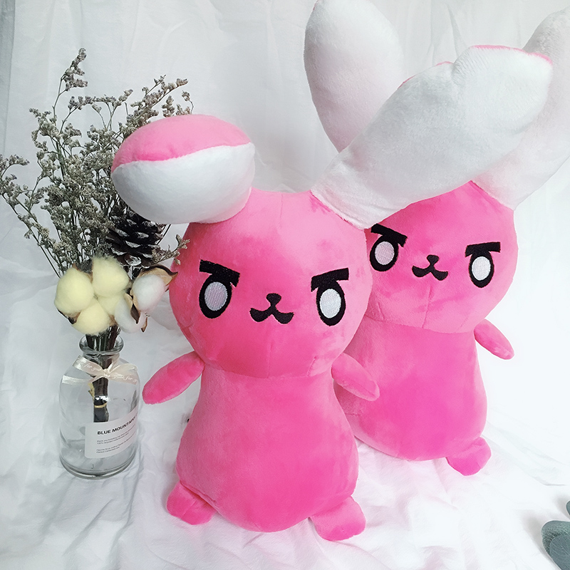 1PC Overwatches Pink Dva Rabbit Plush Pillow Toys OW Game Over Watch Soft DVA Pillow Cosplay Cushions Kids Toys Gifts 3