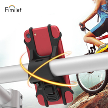 Fimilef Universal Silicone Bicycle Motorcycle Mobile Phone Holder Baby Carriages Stand Bike Mount GPS Handlebar