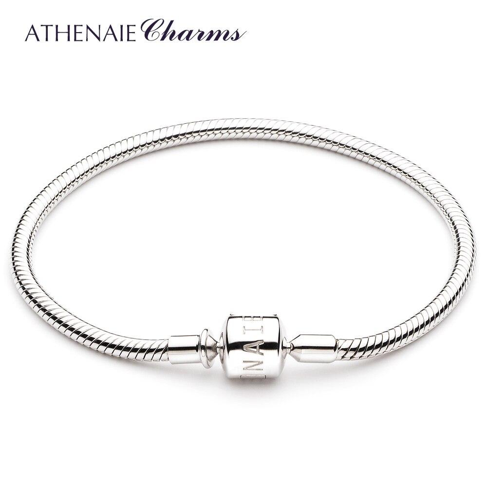 ATHENAIE 925 серебро цепи змейки браслет пригодный для европейских очарование бусы