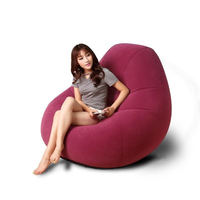 Lazy Sofa Single Bedroom Folding Sofa Leisure Inflatable Sofa Sweet Lazy Cr
