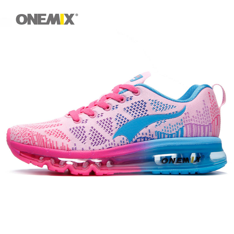 Onemix women's sport sneakers breathable athletic shoes lady's walking shoes outdoor women running shoes EU36-40 2017brand sport mesh men running shoes athletic sneakers air breath increased within zapatillas deportivas trainers couple shoes