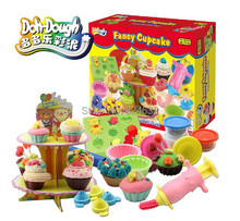 Free Shipping Play Doh Handgum 3D Play Dough Plasticine Creative Clay For Learning Ice Cream Cake