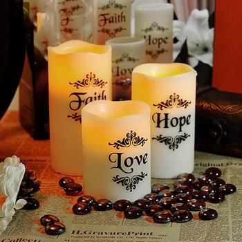Flammenloses Kerzenset | Romantische Led Kerze Lampe Hochzeit Geburtstag Dekoration Velas Bougie Mariage Wachs Geschenk Set Säule Kerzen Machen Zu Hause Decor JKK212