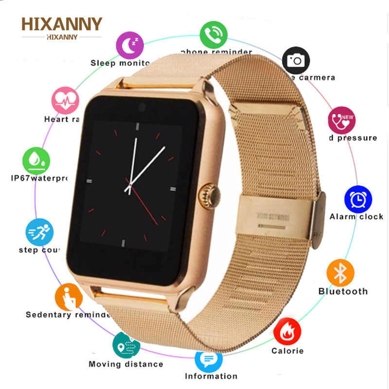 Smart Watch GT08 Plus Metal Strap Bluetooth Wrist Smartwatch Support Sim TF Card Android&IOS Watch Multi-languages PK S8 Z60 men