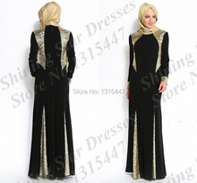 Abaya fashion muslim dress long in black islamic clothing for women underscarf dubai kaftan hijab long evening dresses 2017