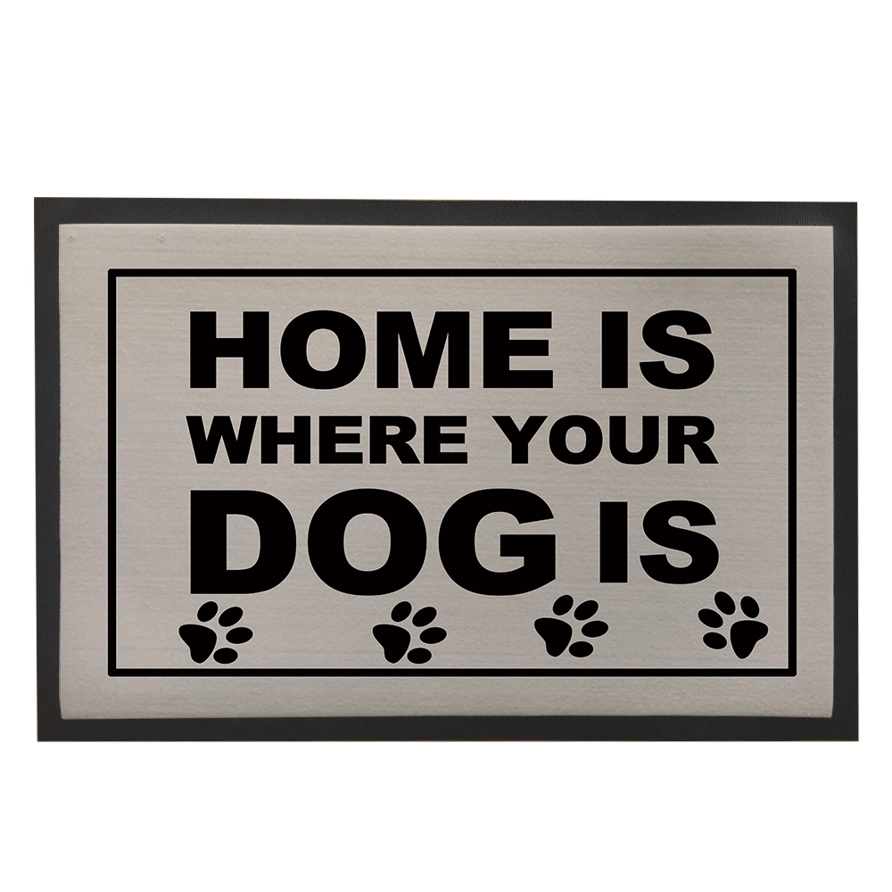 Home Doormat Dog Paws Door Mat For Entrance Door Grey