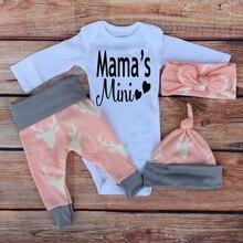 3pcs Baby Suit Long Sleeved Romper + Pant + Hat
