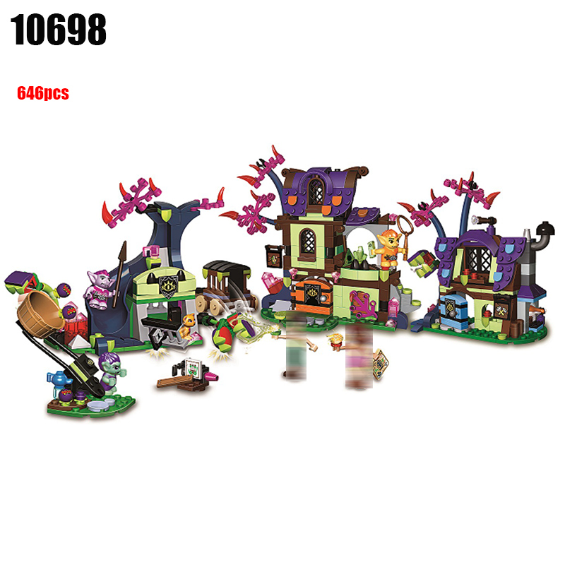 10698 Elves Magic Rescue from the Goblin Village Building Blocks kids Bricks toys Christmas Gift Compatible With 41185 for Girls 10551 elves ragana s magic shadow castle building blocks bricks toys for children toys compatible with lego gift kid set girls