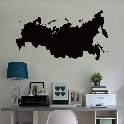 ᗑRussia map Globe Earth Country ∞ wall vinyl sticker ...