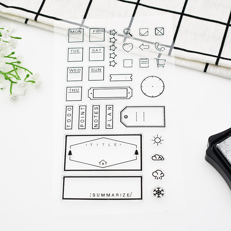 1pc Office Weekly Plan Rubber Clear Stamps Weather Notes Silicone Clear Stamps For Scrapbooking Office Paper Free Shipping 690 спот 92923 eglo