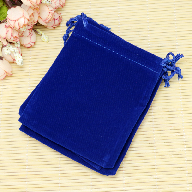 ᗔ20 unids/lote Terciopelo Azul Bolsas 10x12 cm Bolsas de tela ...