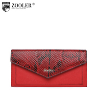 HOT genuine leather bag ZOOLER wallet 2018 new Crocodile Pattern Cow Leather Wallet clutch women purses portafoglio donna#W103
