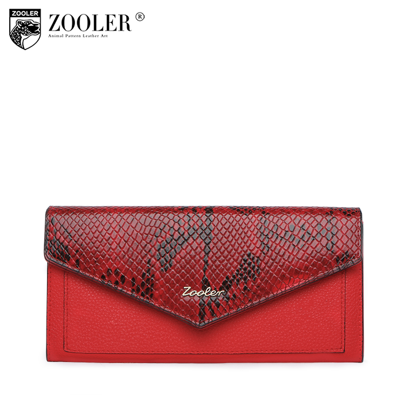 HOT genuine leather bag ZOOLER wallet 2018 new Crocodile Pattern Cow Leather Wallet clutch women purses portafoglio donna#W103