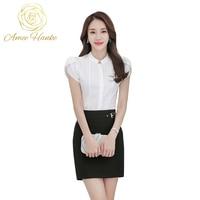 Women Slim Blouse Short Sleeve Blouses 81705
