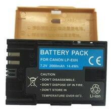 LP LP-E6N E6N bateria Li-ion LP-E6 LPE6 Baterias Da Câmera Digital Para Canon EOS 5D Mark II III 7D 60D 6E 70D 80D 5D4 5DR 7D2