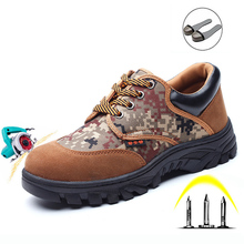 Site Work Shoes Labor Insurance Shoes Men Steel Toe Caps Pun