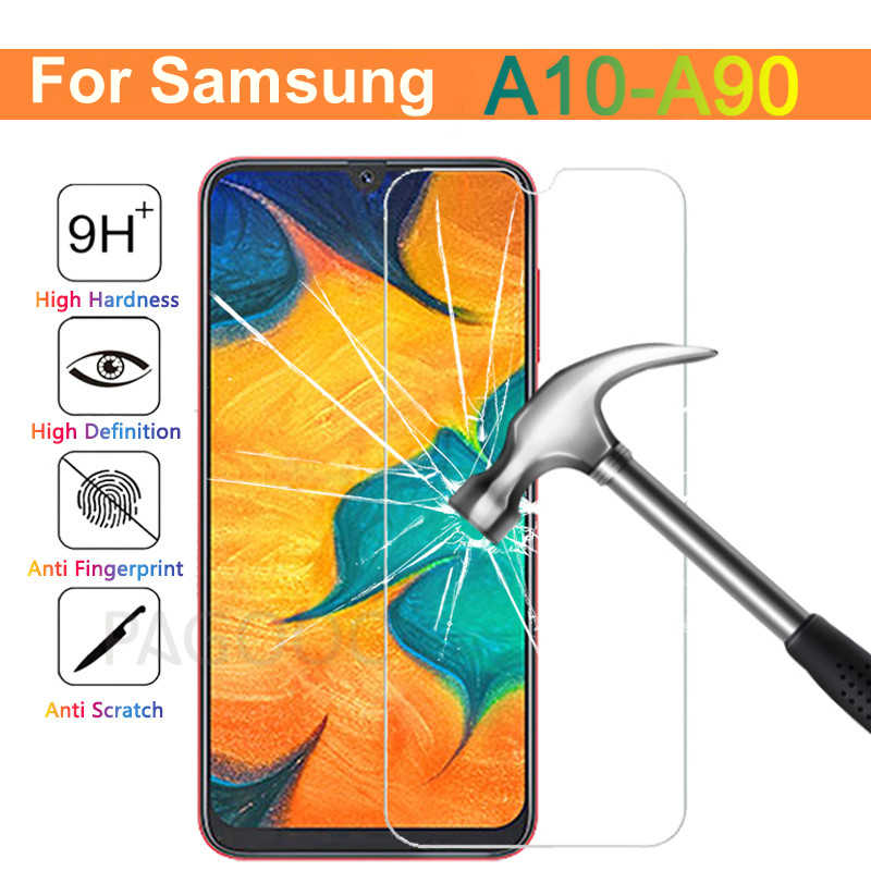 9H Tempered Glass On The For Samsung Galaxy A30 A50 A70 A10 A20 A40 A60 A80 A90 M10 M20 M30 Screen Protector HD Protection Film