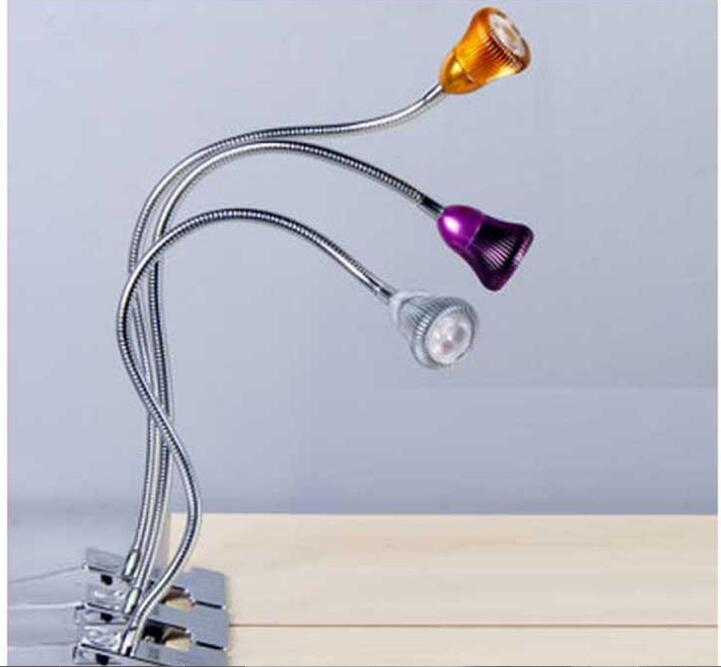 3w Led Clamp Desk Lamp Adjule Light Reading Task Home Design Alu Material Bed Lighting Flexible Gooseneck