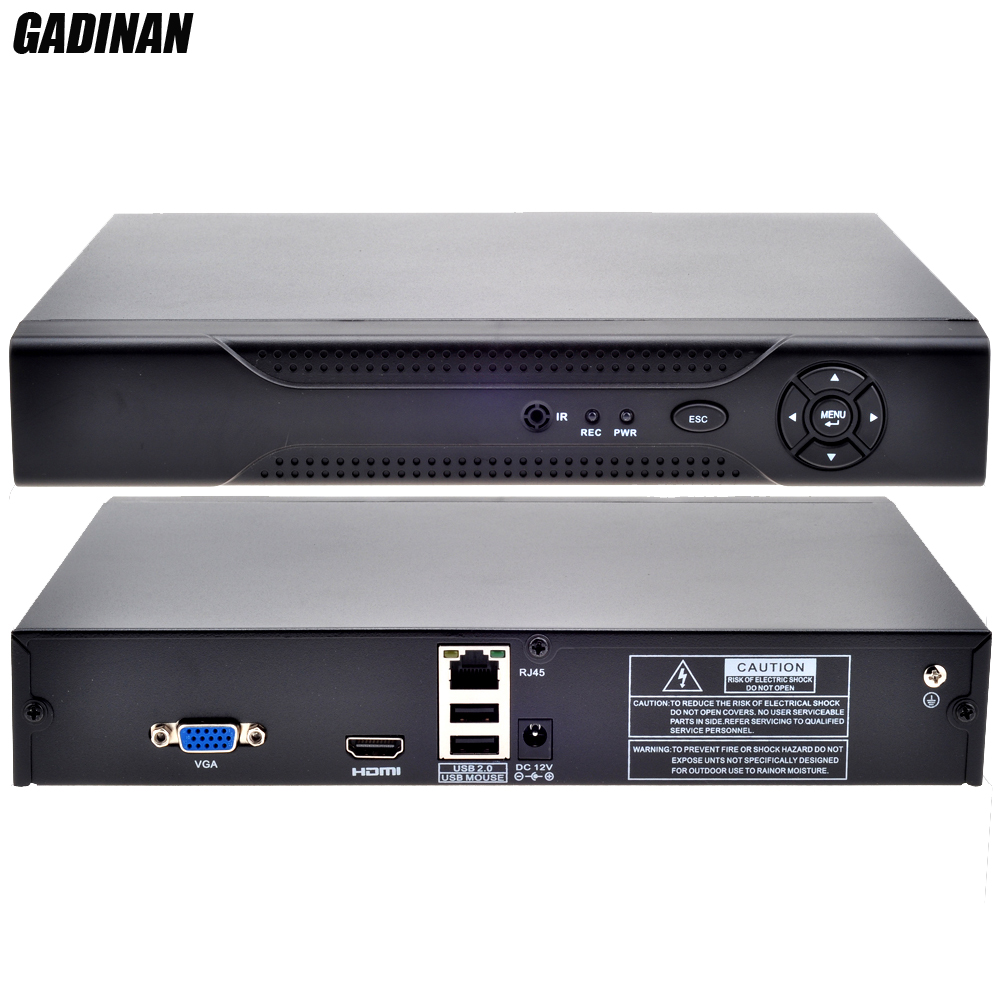 GADINAN Security Standalone Video Recorder Network IE HDMI Output P2P Cloud 1080P 8CH h.264 CCTV NVR Motion Detection ONVIF CCTV