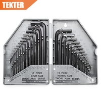STEELTOOLS 30 Pieces Metric Imperial Combined Long Pattern Hexagon Key Set Allen Wrench Spanner Hand Tool