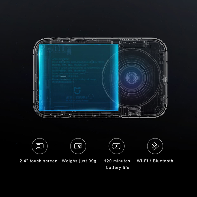 Original Xiaomi Mijia MI Action Camera 4K / 30FPS Ambarella A12S75 Smart Mini Sports Cam Bluetooth EIS WiFi 2.4 3