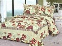 2014 algodão impresso colchas de cama foram lavados por três-piece jardim flor boutique comércio cama