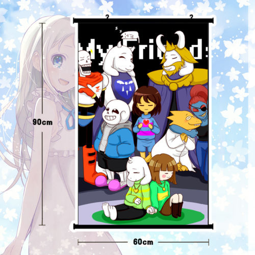 Game  Home Decor Poster Wall Scroll Undertale Sans Papyrus