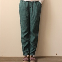 New Arrival Women Cotton Linen Trousers Female Summer White Wide Legged Pants Women Comfortable Cool Slacks