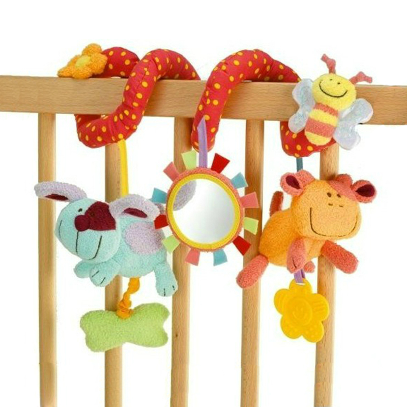 8 Patterns Cute Spiral Activity Stroller Car Seat Cot Lathe Hanging Baby Play Travel Toys Newborn Baby Rattles Infant Toys New