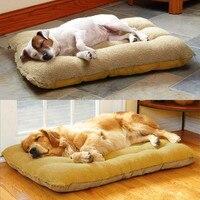 Fully washable pet dog mat kennel cushion lambskin dog cushions golden cat large dog pet nest kennel Dog Mats Soft Pet Puppy Bed