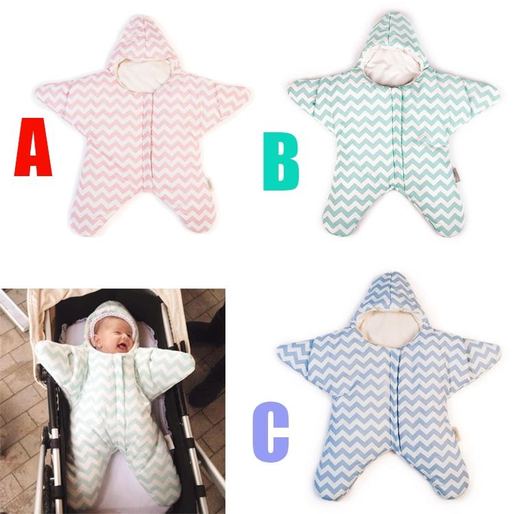 2016 Baby Sleeping Bag Star Shaped Winter Warm Thick Stroller Sleeping Sack for Newborn Infant saco