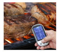 LCD Wireless Barbecue Food Cooking Thermometer Digital Probe Meat Thermometer Temperature Gauge Kitchen Tools