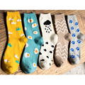 [COSPLACOOL] Cartoon egg patterns Autumn winter Women's socks