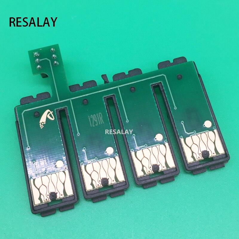 1 комплект T1291-T1294 СНПЧ сброс комбо чип для Epson WF-7015 WF-7515 WF-7525 WF-3010DW WF-3520DWF WF-3530DTWF WF-3540DTWF