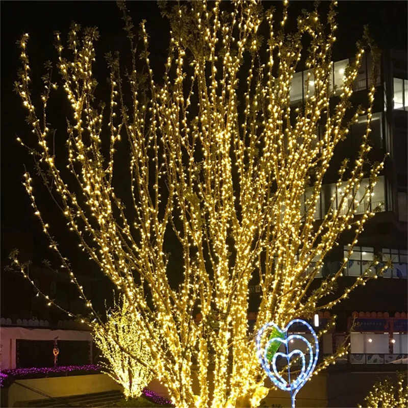 10-100M LED Street Garland String Lights Copper Wire Night Light for Holiday Christmas Xmas Tree Garden Wedding New Year EU Plug