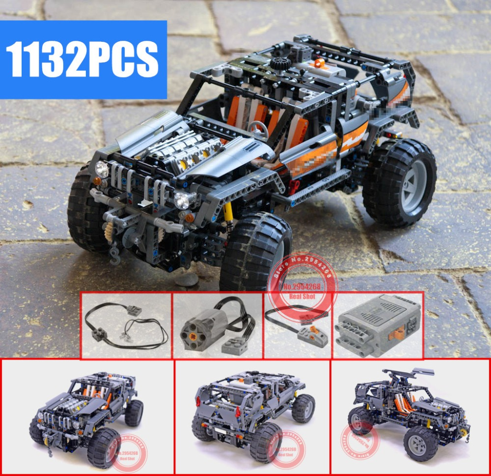 New Motor Power Functions Technic Off Roader fit technic Model kits Building Blocks Bricks toys for