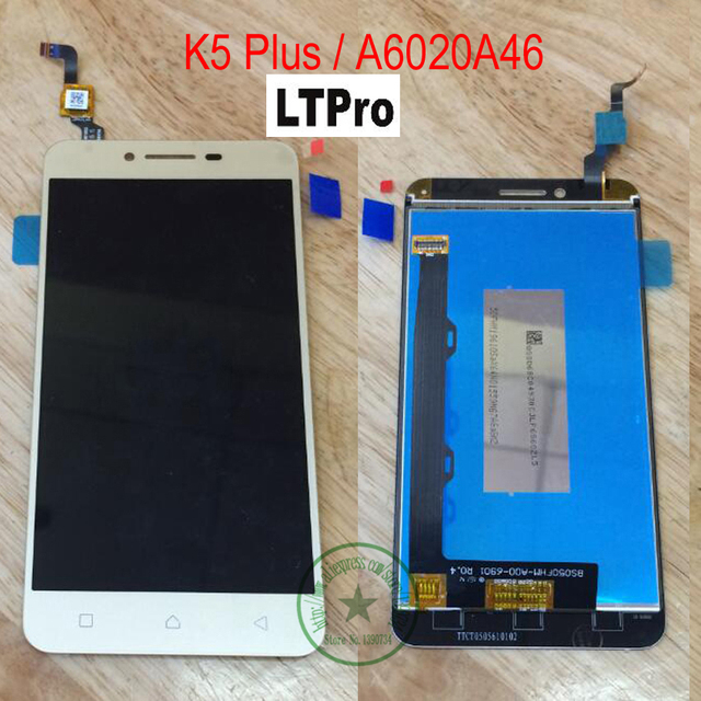 LTPro TOP Quality Touch Screen Panel Digitizer LCD Assembly For Lenovo vibe K5 Plus A6020A46 Repair External Screen Replacement
