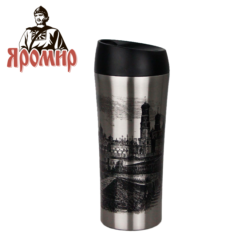YAROMIR YAR-2406M Hot cup 400ml Vacuum Flask Thermose Travel Sports Climb Thermal Pot Insulated Vacuum Bottle Stainless Steel korean penguin vacuum cup water bottle mug coffee tea stainless steel thermos food jar thermal container insulated soup holder