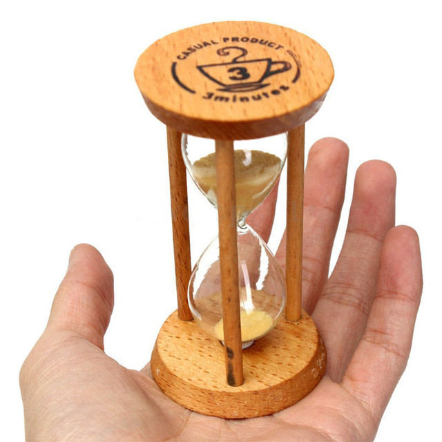 f7637d92ae2 3 minutos Ampulheta de Areia Ampulheta De Vidro Temporizador Relógio de  Contagem Regressiva de Tempo Moldura