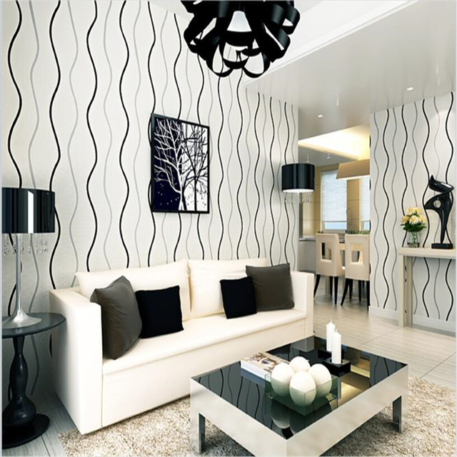 Beibehang Modern Simple 3d Stereo Wave Pattern Wallpaper Bedroom