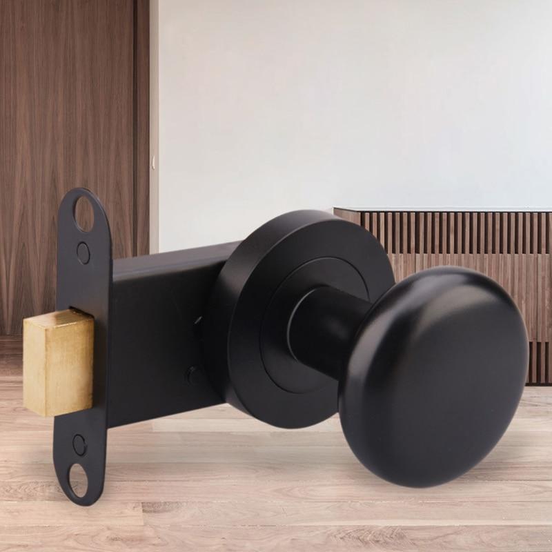 American black dark door lock invisible door lock single sided lock TV background wall hidden door handles for interior doors in Locks from Home Improvement